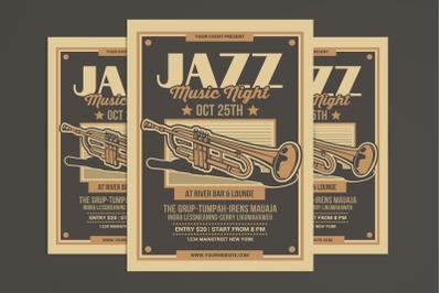Jazz Music Flyer Poster