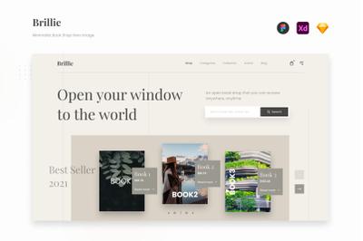 Blillie - Minimalist Book Shop Website Landing