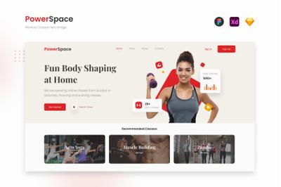 PowerSpace - Modern Workout Website Landing