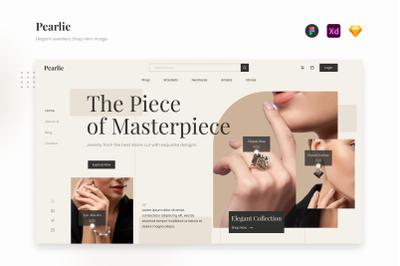 Pearlie - Classy Elegant Jewellery Website Landing