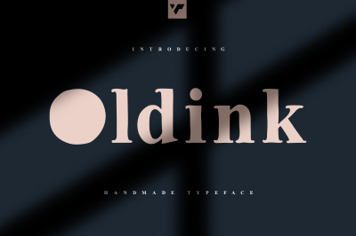 Oldink - handwritten serif typeface