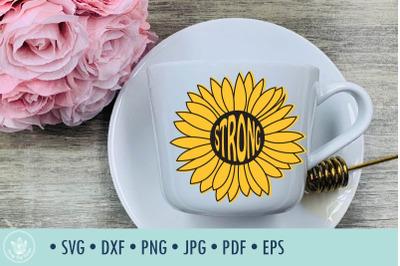 Sunflower Strong SVG cut file