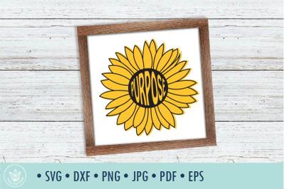 Sunflower Purpose SVG cut file