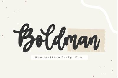 Boldman Handwritten Script Font