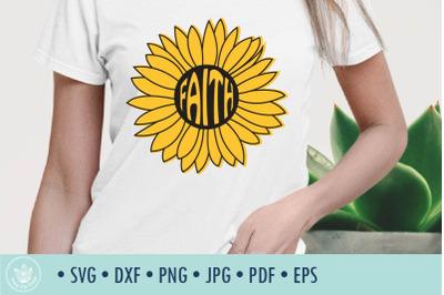 Sunflower Faith SVG cut file