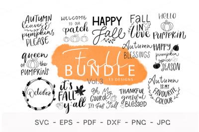 Hello Fall svg, Fall sign SVG bundle