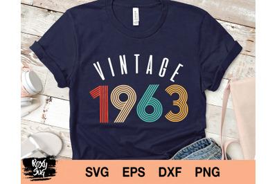 Vintage 1963 Svg
