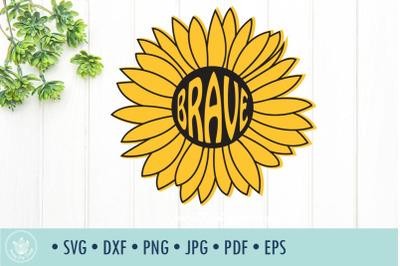 Sunflower Brave SVG cut file
