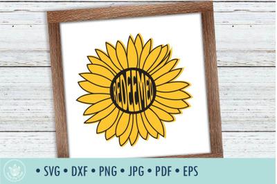 Sunflower Redeemed SVG cut file