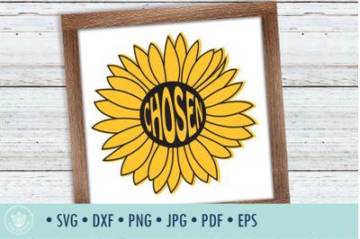 Sunflower Chosen SVG cut file