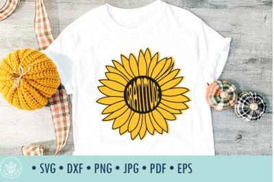 Sunflower Gratitude SVG cut file