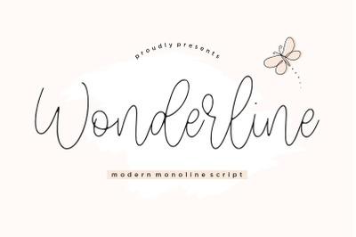 Wonderline Modern Monoline Script Font