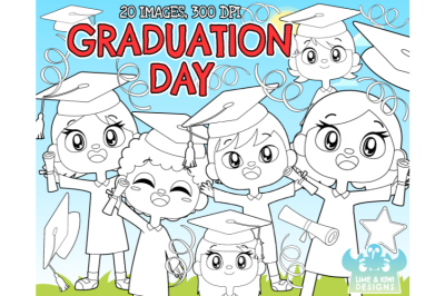 Graduation Day Digital Stamps - Lime and Kiwi Designs