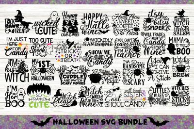 Halloween Bundle Svg Volume 1, Happy Halloween Svg, Spooky Svg.
