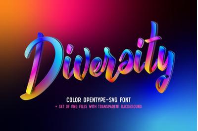Diversity Color Bitmap Font