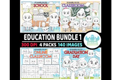 Education Digital Stamps Bundle 1 - Lime and Kiwi Designs