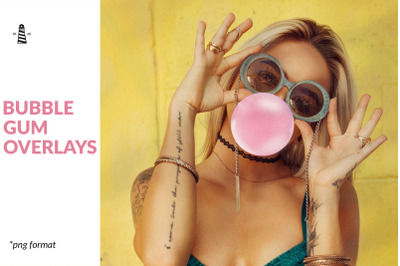 Bubble Gum Photoshop Overlays