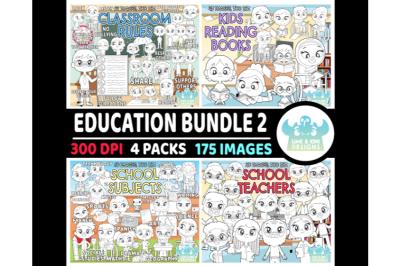Education Digital Stamps Bundle 2 - Lime and Kiwi Designs