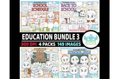 Education Digital Stamps Bundle 3 - Lime and Kiwi Designs