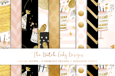 Seamless Patterns - It's Party Time