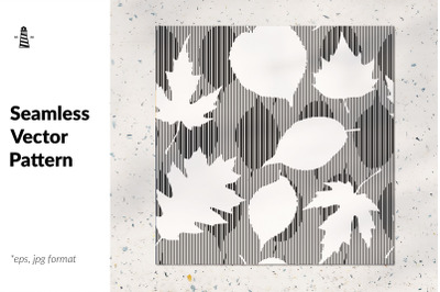 Black and white fall leaves