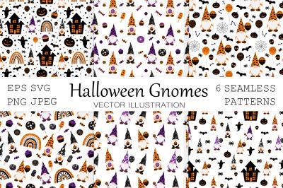 Halloween Gnome. Gnome pattern. Gnome SVG. Halloween pattern