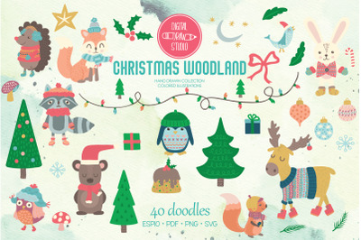 Christmas Woodland Animals | Ornaments, Winter Hat, Holiday Sweater