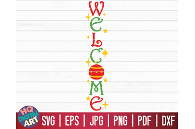 Welcome Porch Sign SVG   Christmas Porch Sign SVG
