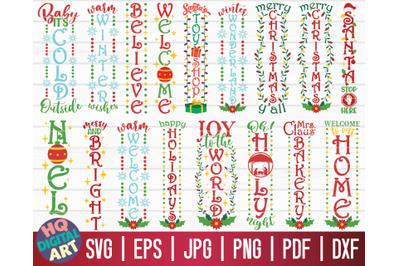 Christmas Porch Signs SVG Bundle