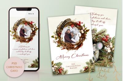 PSD Photo Christmas Card Set #1
