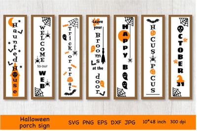 Halloween Porch Sign SVG. Halloween Door Signs. SVG.PNG