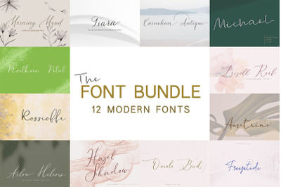 The Modern Calligraphy Font Bundle