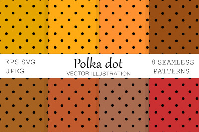 Polka dot. Autumn Polka dot. Dots pattern. Dots background