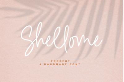 Shellome a handmade font