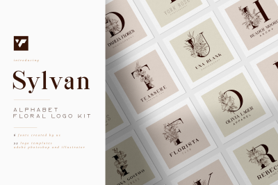 Sylvan Floral logos - fonts included