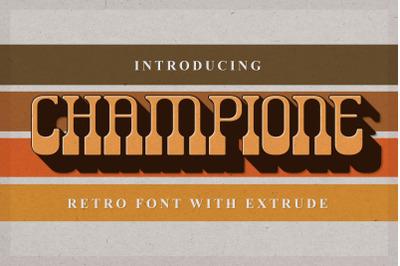 Champione | Retro Font with Extrude