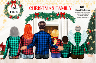 Christmas Family. DIY Custom Family Clipart