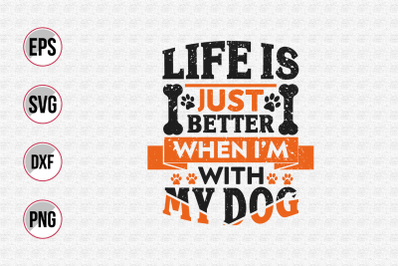 Dog quotes vector design template svg.