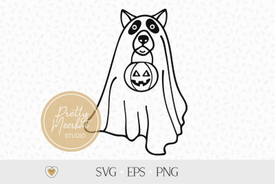 Dog Ghost svg, Halloween dog svg, Halloween png, Cut file