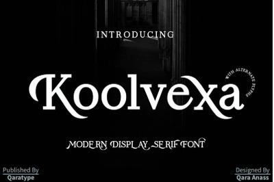 Koolvexa | a modern display serif font