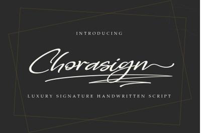 Chorasign | Signature Handwritten Script