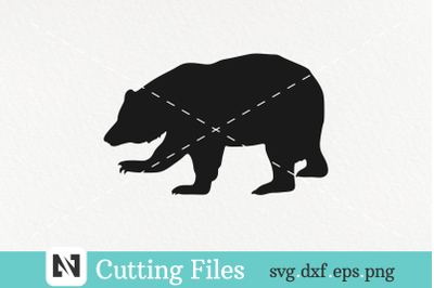 Grizzly Bear Silhouette Svg Vector File