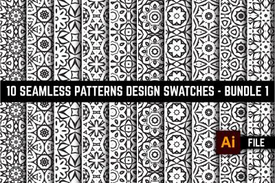 10 Seamless Patterns Design Swatches Bundle No: 1