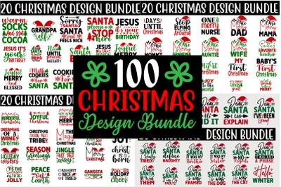 Christmas SVG T shirt Quotes Design Bundle
