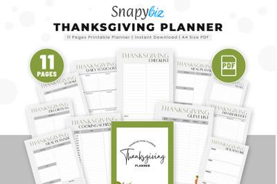Thanksgiving Planner   Thanksgiving Countdown   Thanksgiving Binder  