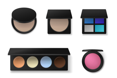 Professional cosmetics. Realistic eyeshadow or concealer palettes. Fac