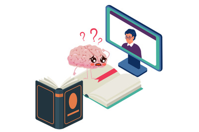 Books or digital. Brain makes a choice between online distance learnin