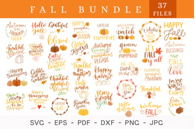 Fall bundle svg, Autumn, Thanksgiving