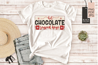 Cocoa Bar Sublimation | Hot Chocolate Served Here