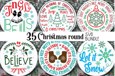 Round Sign Christmas, Christmas Round Ornaments, Christmas Round Sign